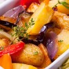 سلطة البطاطس والباذنجان
