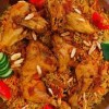 طبق الأرز الجزائري بالدجاج والخضار