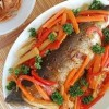 طبق السمك بالنكهة الآسيوية