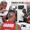 """أمير سعود يضع """"العلم اللبناني"""" على رأسه لدعم المنتخب الوطني"""
